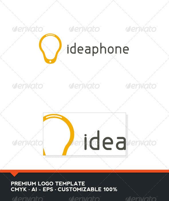 GraphicRiver Idea Phone Logo Template 3405436