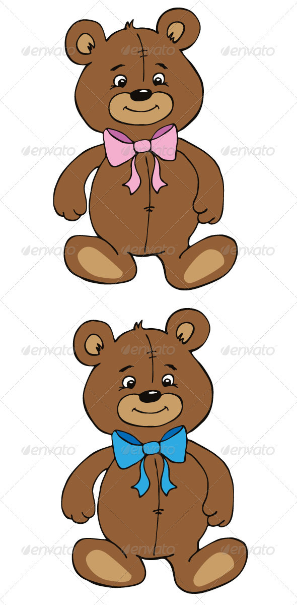 GraphicRiver Cute Teddy Bears 3406572