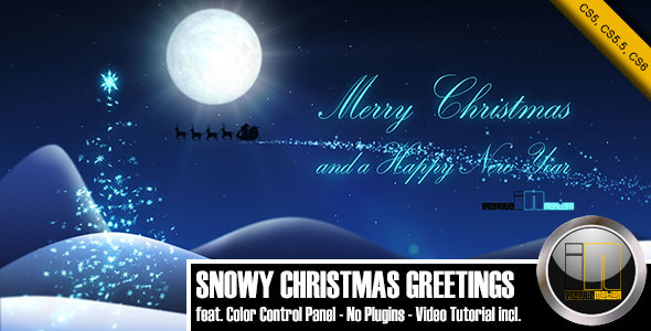 VideoHive Snowy Christmas Greetings 3406948