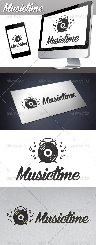 GraphicRiver Music Time Logo 3406972