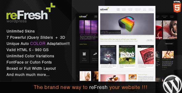 ThemeForest reFresh Powerful Clean & Elegant WordPress Theme 1546014