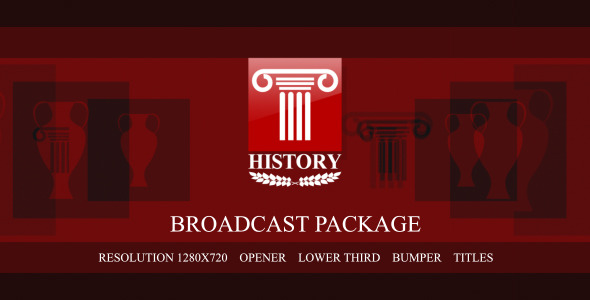 After Effects Project - VideoHive History broadcast package 3376293