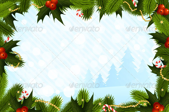 Christmas Card Template - Christmas Seasons/Holidays