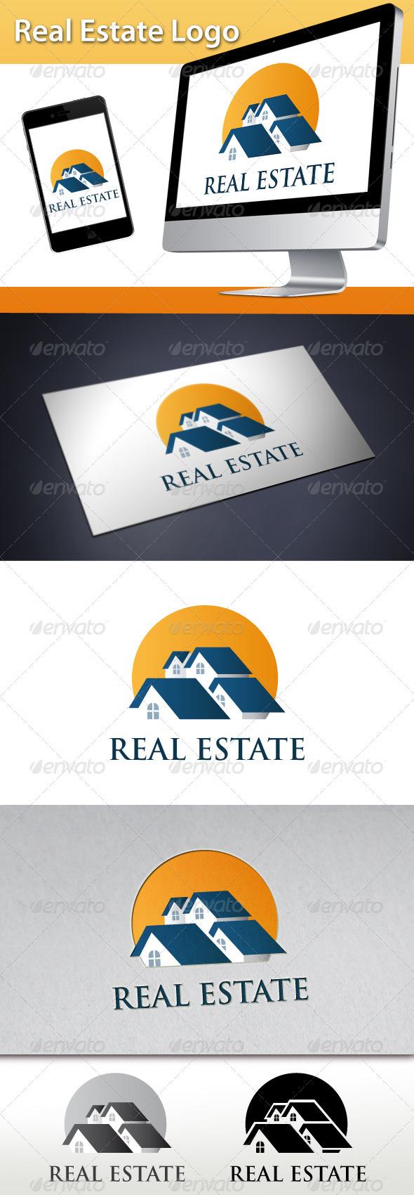 GraphicRiver Real Estate Sun Logo 3407187