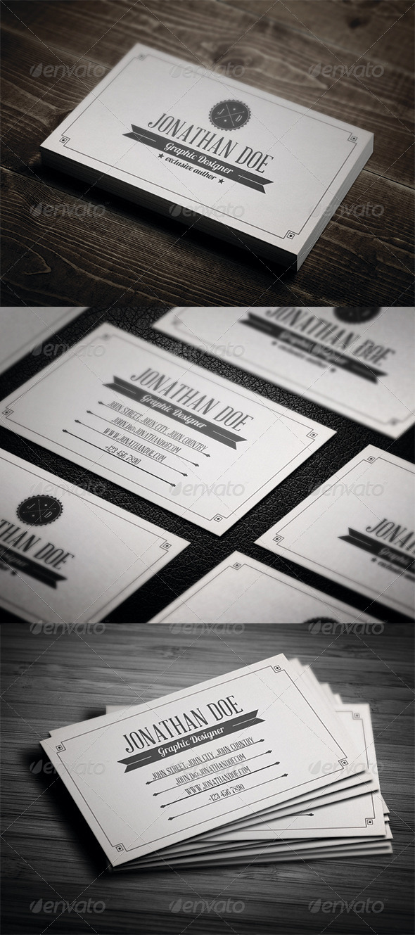 GraphicRiver Retro Business Card 3407389