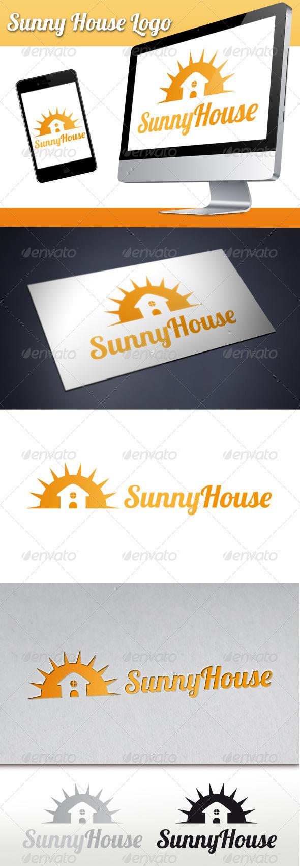 GraphicRiver Sunny House Logo 3407475