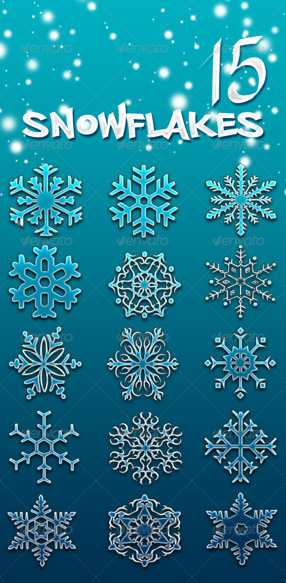 GraphicRiver Snowflake Brushes 3408116