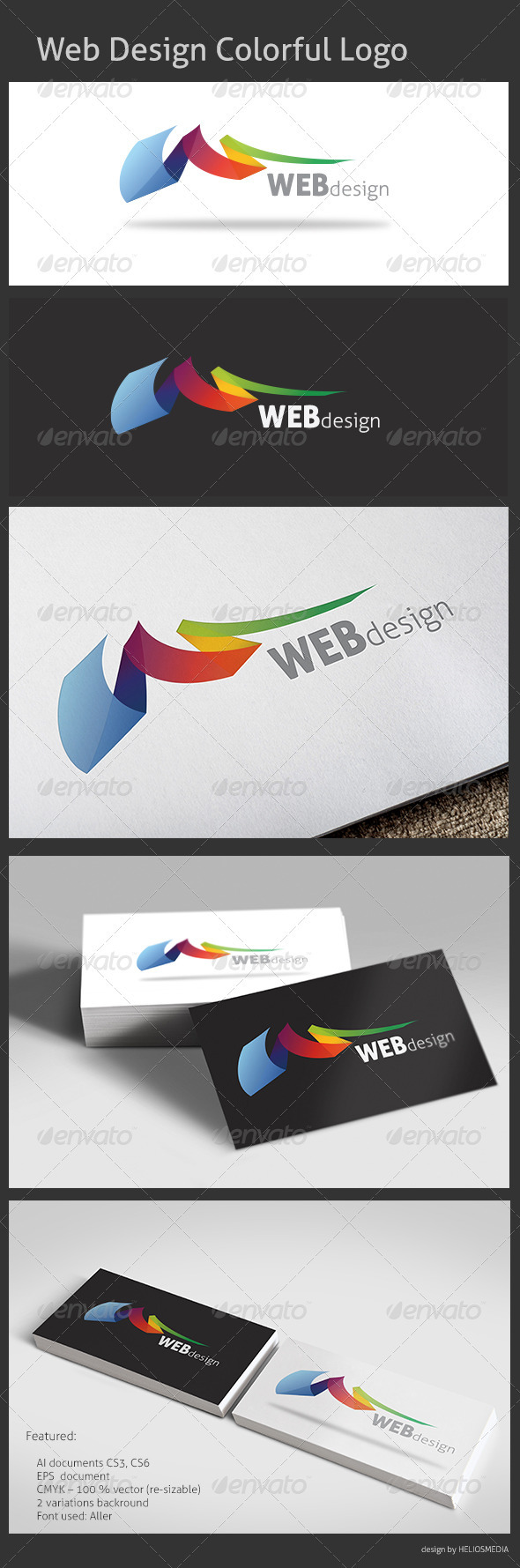 GraphicRiver Web Design Colorful Logo 3408493