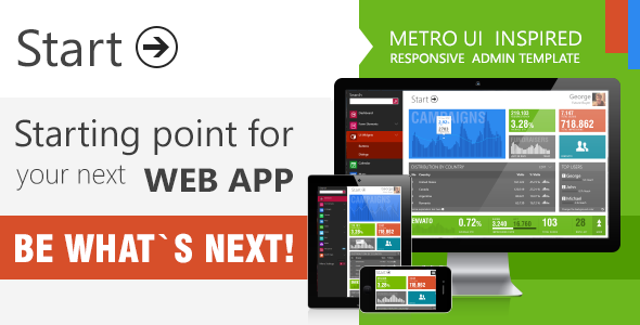 Start - Metro UI  Responsive Admin Template - Admin Templates Site Templates