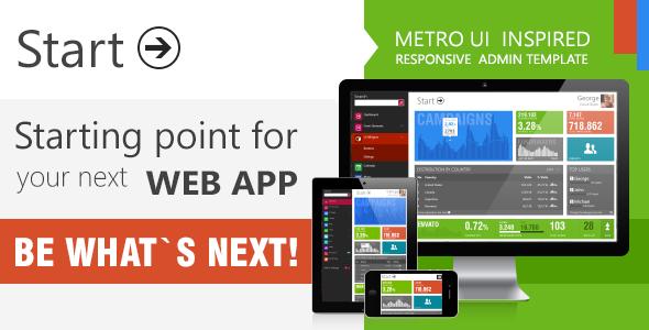 Start - Metro UI  Responsive Admin Template