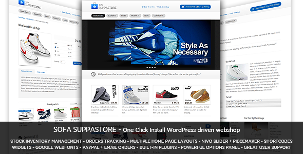 Sofa SuppaStore - WordPress Driven Webshop