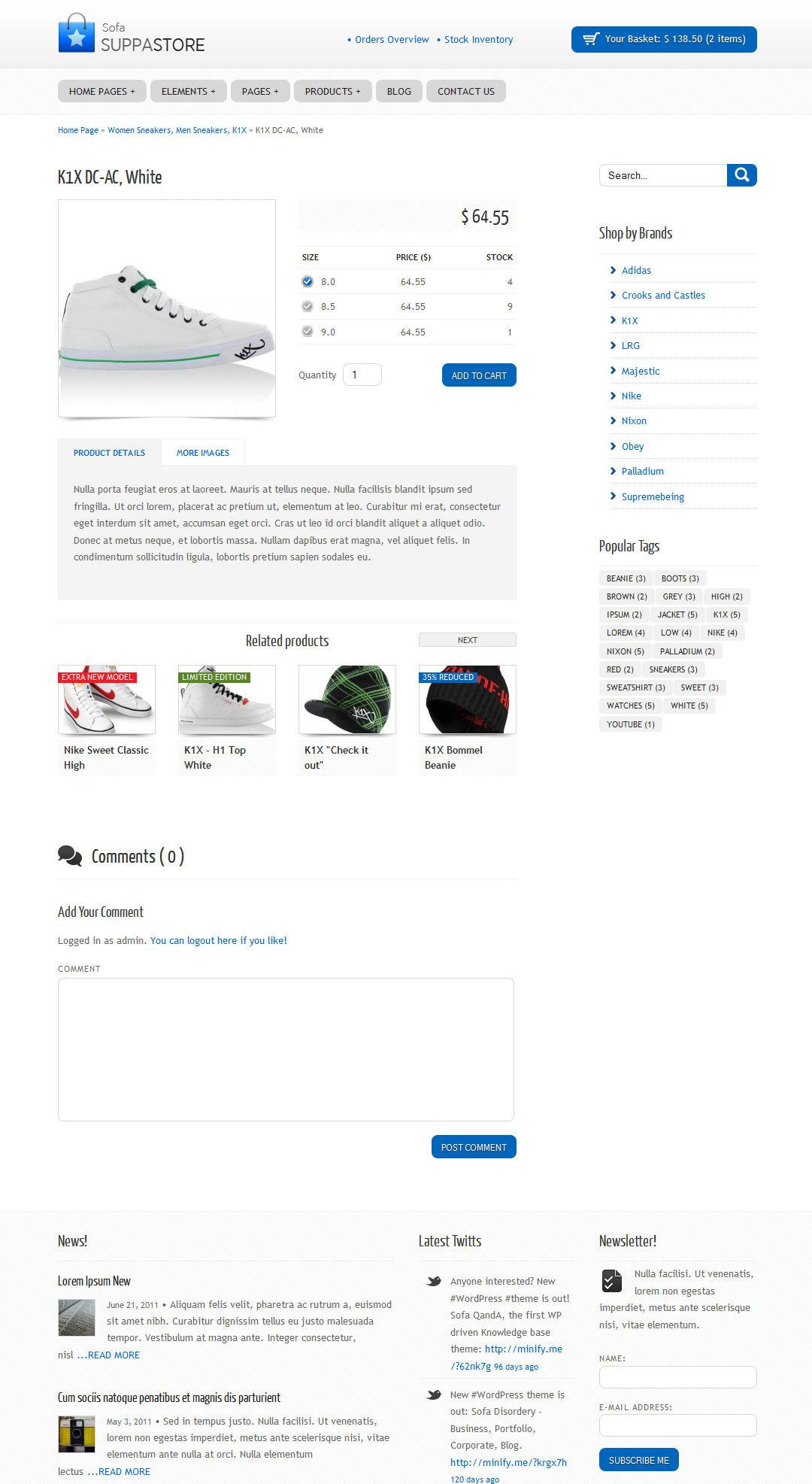 Sofa SuppaStore - WordPress Driven Webshop
