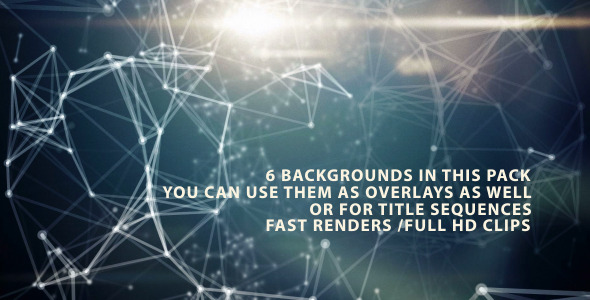 VideoHive Science Web Backgrounds 6-Pack 3334249