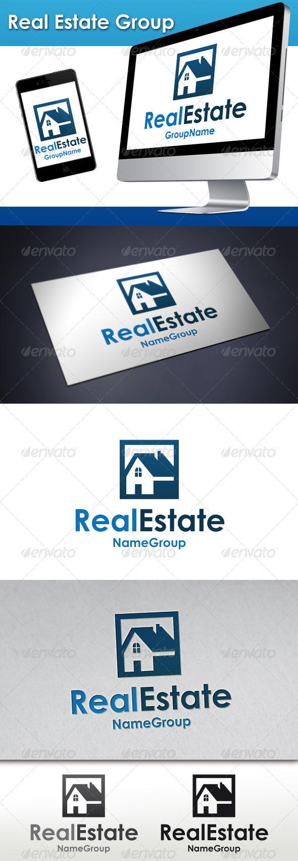 GraphicRiver Real Estate Group Logo 3408958