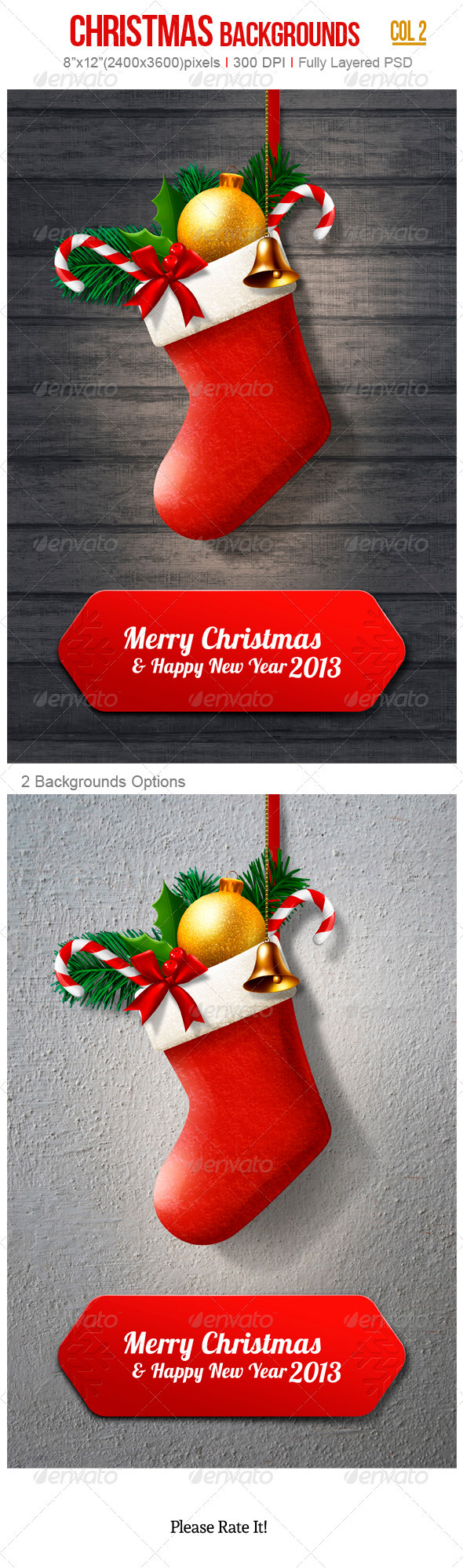 GraphicRiver Christmas Backgrounds 3409156
