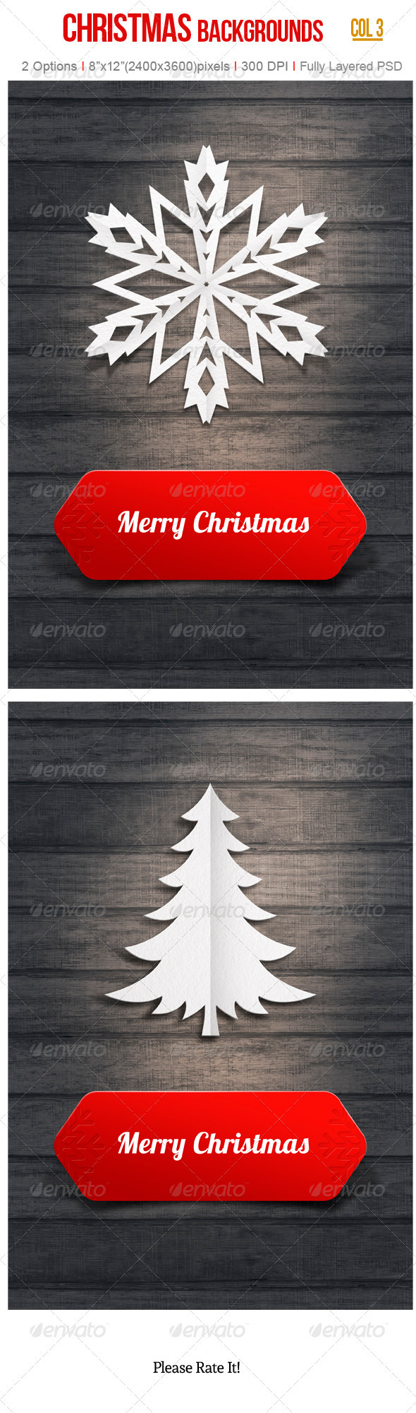 GraphicRiver Christmas Backgrounds 3409183
