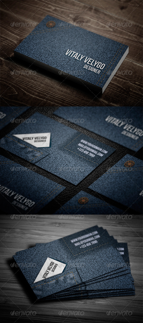 GraphicRiver Jeans Style Business card 3409299
