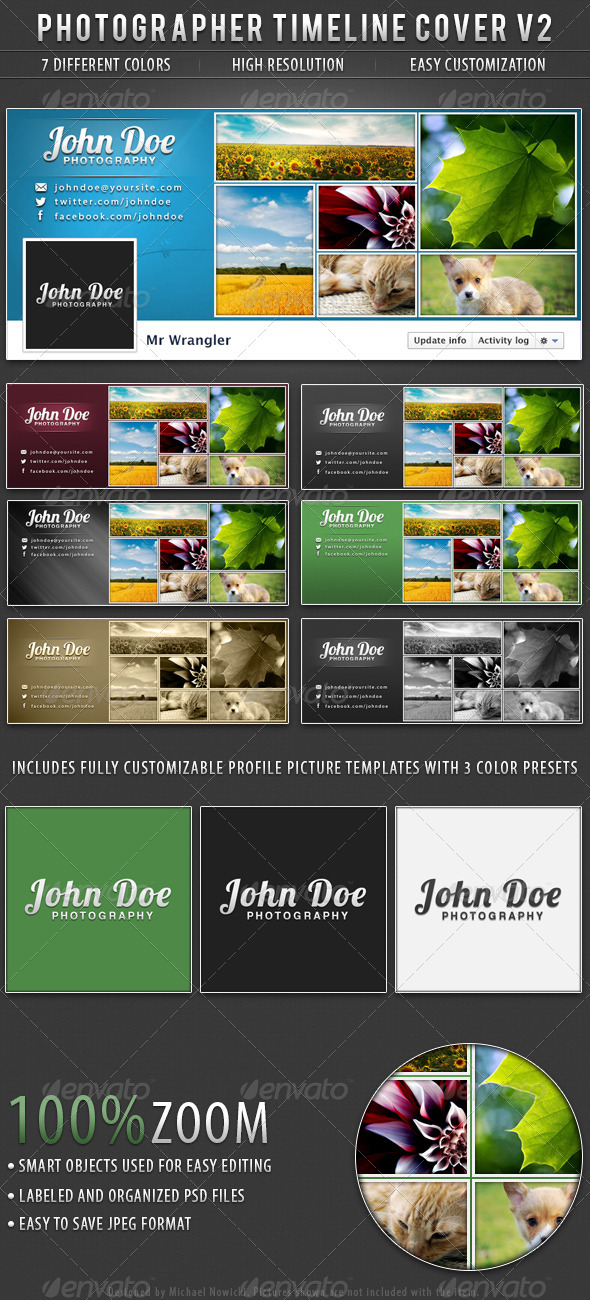 GraphicRiver Photographer FB Timeline Cover V2 3409506
