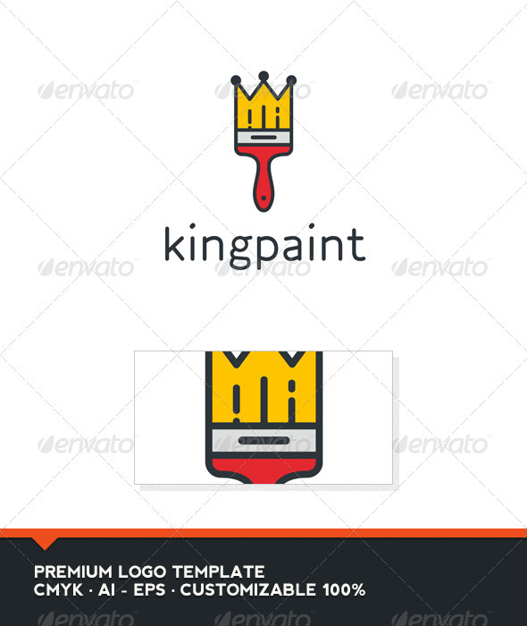 GraphicRiver King Paint Logo Template 3409569