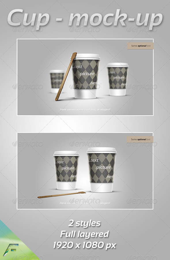 GraphicRiver Cup Mock-Up 3409988