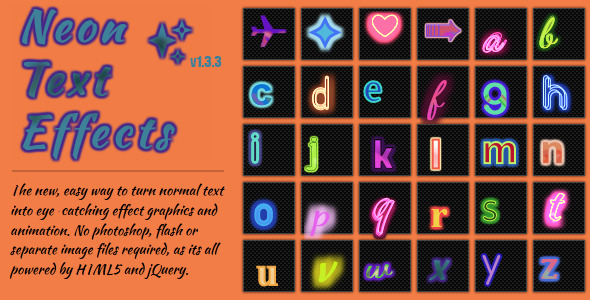CodeCanyon Neon Text Effects jQuery Plugin 2348662