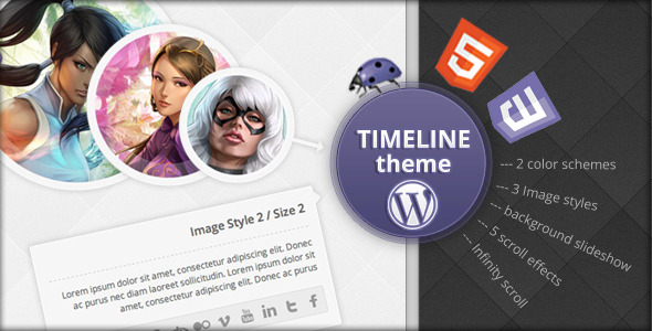 ThemeForest Timeline WordPress Theme 3366463