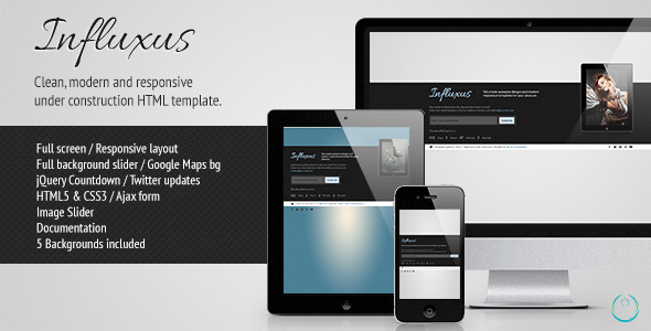 Influxus - Responsive Under Construction Template