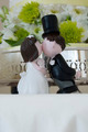 Kissing bride and groom figurines - PhotoDune Item for Sale