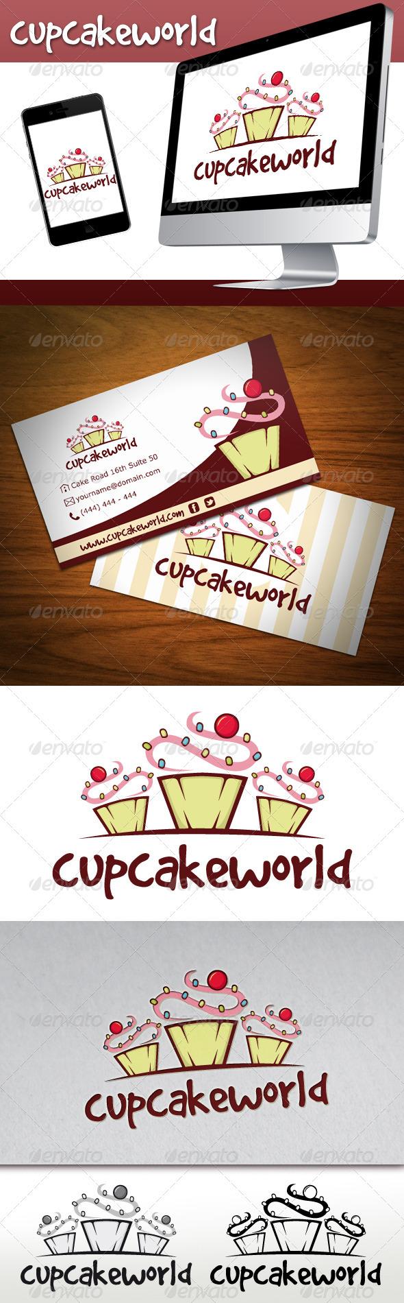 GraphicRiver Cupcake Logo 3410680
