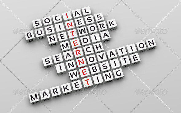 Internet Concept. Crossword_1 - Stock Photo - Images