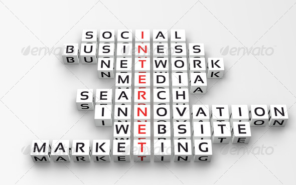 Internet Concept. Crossword_2 - Stock Photo - Images