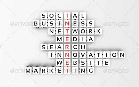 Internet Concept. Crossword_3 - Stock Photo - Images