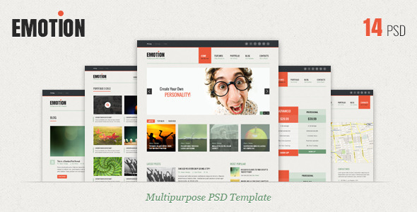 ThemeForest Emotion PSD Template 3411209