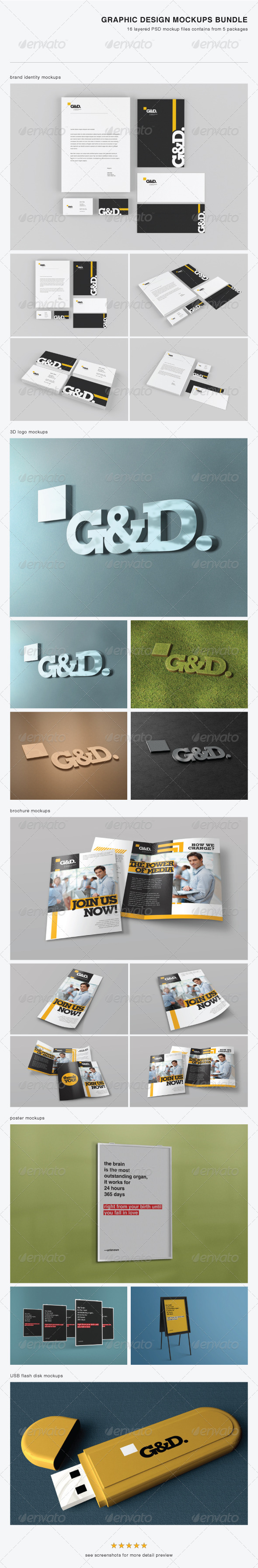 Graphic Design Mock-up Bundle - Stationery Print