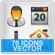 General 76 icons - GraphicRiver Item for Sale