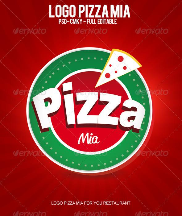 GraphicRiver Logo Pizza Mia 3096583