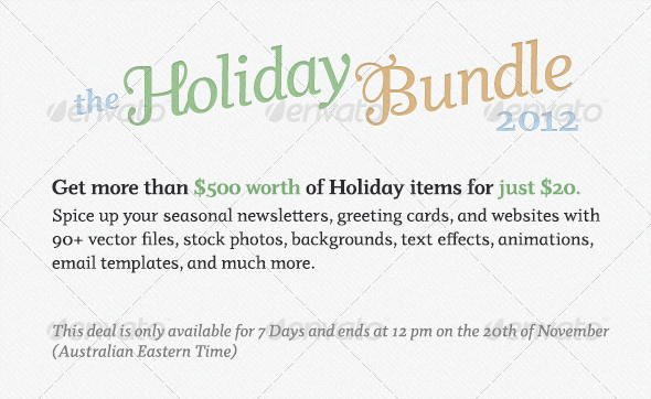 itempage1 Envato Holiday Bundle 500$ worth of items for just 20$!