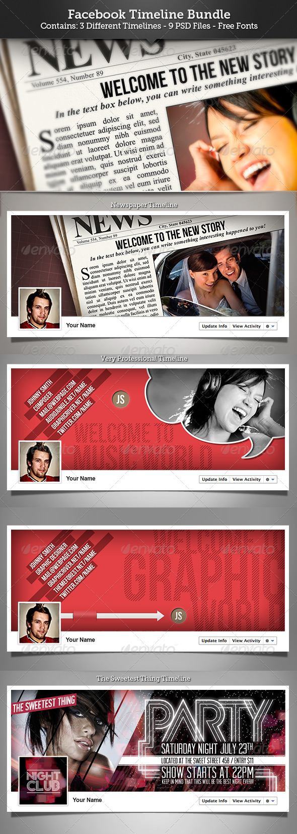 GraphicRiver FB Timeline Cover Bundle 3411671