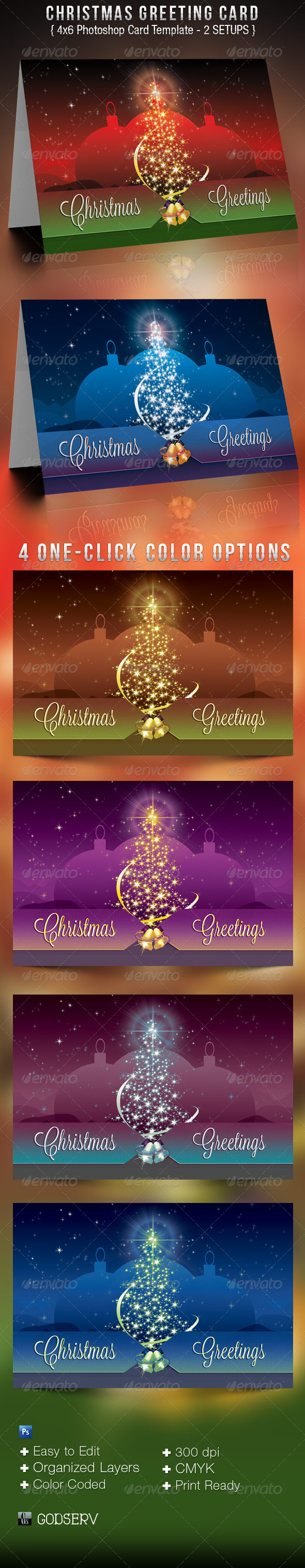 GraphicRiver Christmas Greeting Card Template 3411743