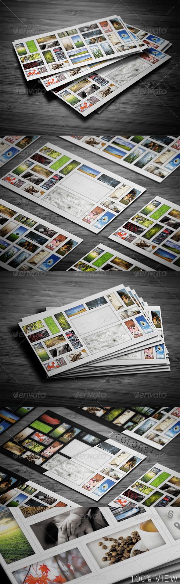 Mosaic Portfolio Business Card - Creative Business Cards