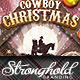 Vintage Cowboy Christmas Flyer Template - GraphicRiver Item for Sale