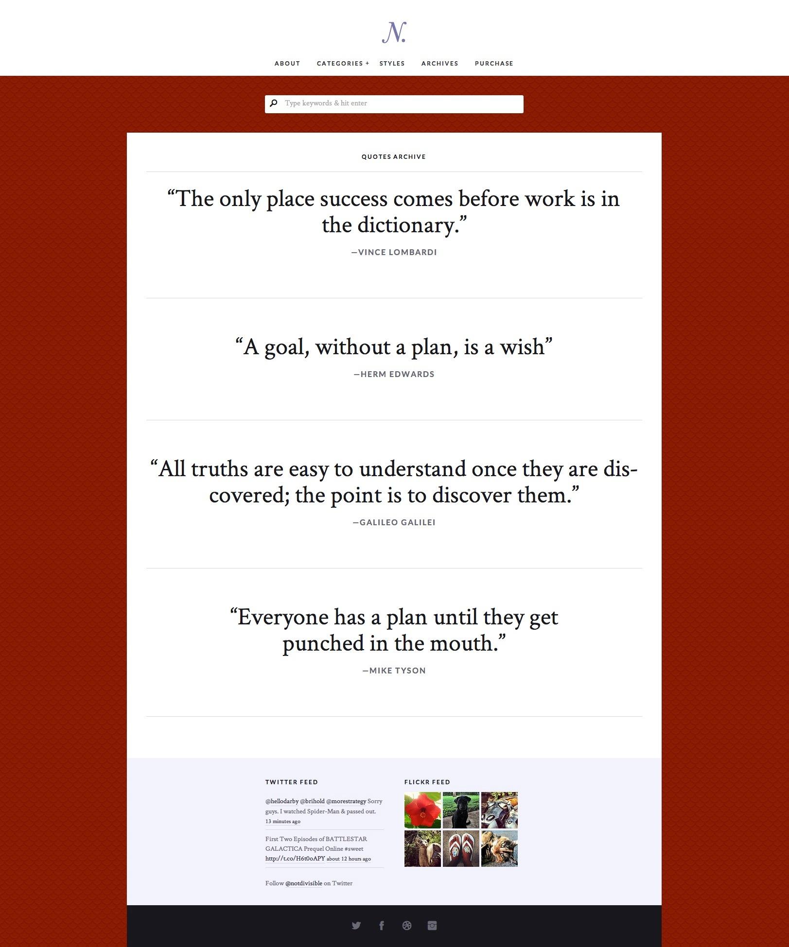 Notably – A Responsive WordPress Blogging Theme