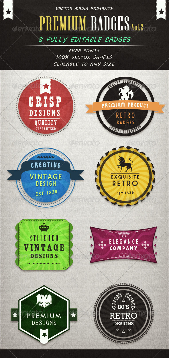 GraphicRiver Premium Badges Vol.2 3413488