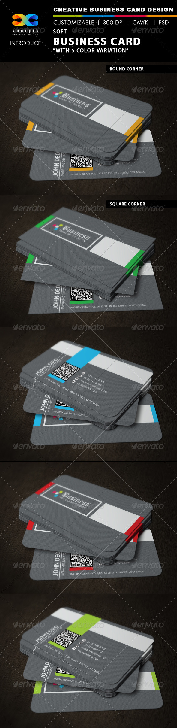 GraphicRiver Soft Business Card 3413529