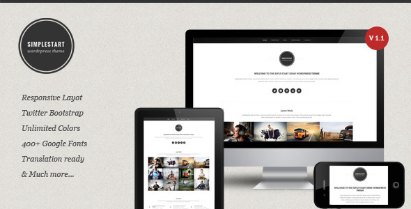 SimpleStart - Responsive Portfolio  Blog Theme