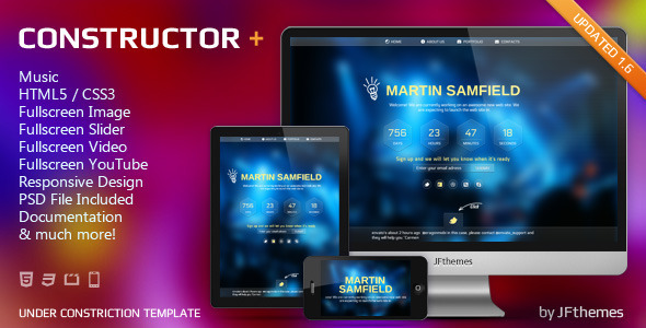 ThemeForest Constructor Responsive Under Construction Templa 2942919