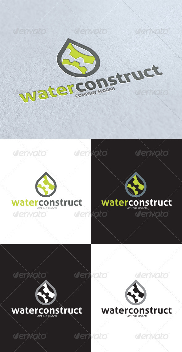 GraphicRiver Water Construct Logo 3413979
