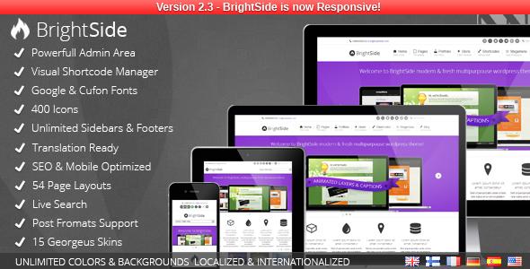 ThemeForest BrightSide Modern Multipurpose Wordpress Theme 2953458