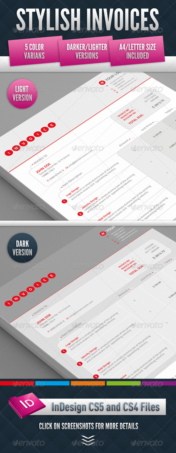 GraphicRiver Stylish Invoices 3414551