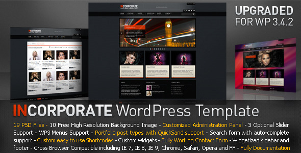 ThemeForest Incorporate WordPress Template 1365863